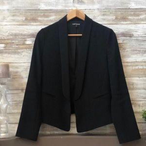 Express cropped black suit jacket blazer